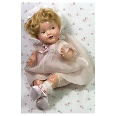 """1930's Ideal 15"""" Shirley Temple Baby doll w/Tagged Dress"""