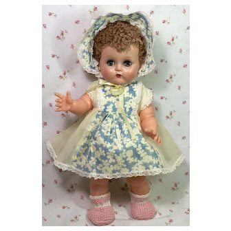"1950's Ideal Toy 14"" Betsy Wetsy Baby Doll -- All Original"