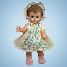 """1950's Ideal Toy 14"""" Betsy Wetsy Baby Doll -- All Original"""