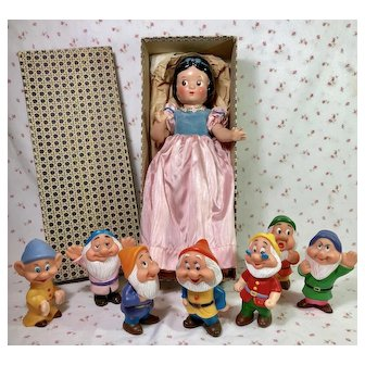 "PRISTINE 1937 Ideal / Knickerbocker SNOW WHITE 15"" Composition Doll -- MINT in BOX"
