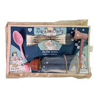 Extremely Rare 1940's Effanbee Dy-Dee Accessory Card -- Pipe Spoon Q-Tips Bottle