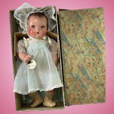 "IDEAL 16"" Flirty Eye 1930s Princess Beatrix Baby Doll -- Mint in Box"