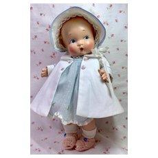 "Harriet Flanders 1937 Compo 12"" LITTLE CHERUB Baby -- Perfection!"