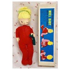 Shackman Christmas NOEL BABY Doll * Red Cloth Doll Original Box Made in Japan Vintage 1957 Rare
