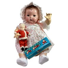 Shackman Christmas SANTA BABY Sleepy Baby Cloth Doll for Dy-Dee LOU #2