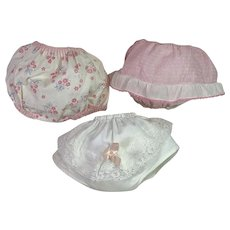 """One Pair Rubber Pants & TWO Pair of Ruffled Panties for Dy-Dee and Friends -- 13"""" to 15"""""""