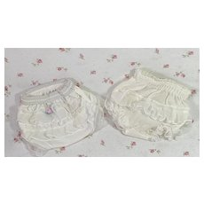 """TWO Pair MINT * Ruffled DOLLY Panties for Dy-Dee and Friends -- 11"""" Baby"""