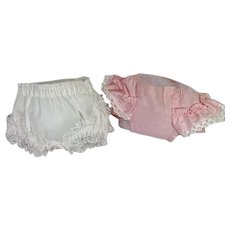 """TWO Pair MINT Ruffled DOLLY Panties for Dy-Dee and Friends -- 11"""" - 12"""" Baby"""