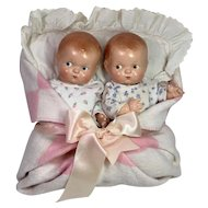 Vintage RARE 1930's Effanbee Patsy BABYKIN TWINS -- Early Painted Eye