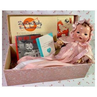 """1930's Effanbee Original 15"""" Mold 1 Dy-Dee Jane in Box"""