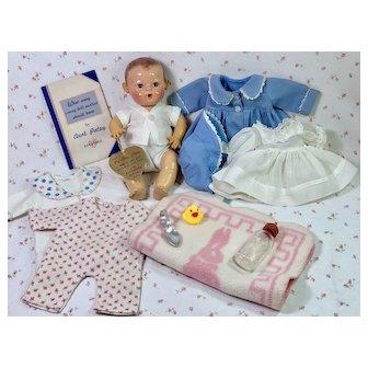 "Vintage 11"" Dy-Dee Doll - MOLD 2 w/ Original Layette"