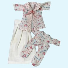"""9"""" Dy-Dee WEE Vintage 1930's Effanbee Factory Baby Doll Layette Set"""