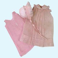 "RARE Effanbee 11"" Dy-Dee Ette Pink Organza Gown Set"