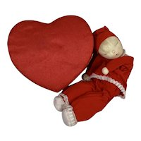 Extremely RARE * Shackman CHRISTMAS RED Valentine Heart Sleepy Doll 1957
