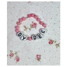 """Vintage 1940's Effanbee Dy-Dee """"Hospital"""" Bracelet"""