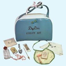 RARE 1930's Original DY-DEE Diaper Bag Utility Kit -- Complete Layette Accessories
