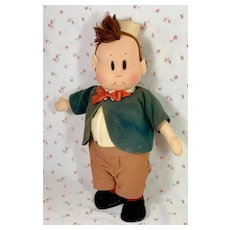 "1940's Georgene Averill 13"" Cloth LITTLE LULU Friend TUBBY"