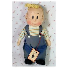 "1940's Georgene Averill 12"" Cloth LITTLE LULU Friend ALVIN"