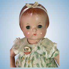 """Vintage Blue-Eyed 1930s Effanbee 19"""" Patsy Ann Composition Doll Near MINT"""