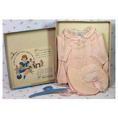 Pristine Molly'es SILK Coat and Bonnet for 15 Dy-DEE Jane, Patsy Ann or Shirley Temple Baby