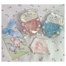 "TINY Bear Theme Diaper and Rubber Panties for 7"" to 8"" Doll"