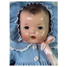 "Vintage 1930s Effanbee 20"" Mold 1 Blue-Eyes Dy-Dee LOU Baby Doll"