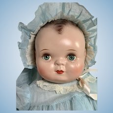 "RARE Averill Madame Hendren 17"" Georgene Baby Music Box Composition Doll"