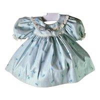 """MINT Vintage Effanbee 15"""" Dy-Dee Doll Blue Print Dress"""