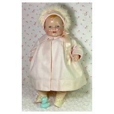 "1930s Vintage 19"" Madame Alexander Composition Baby Doll"
