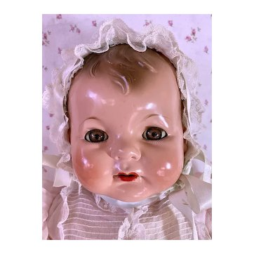 "RARE --1930s Effanbee EARLY SUGAR BABY 22"" Composition Doll"