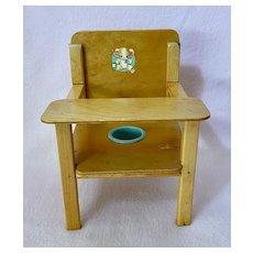 """RARE 1951 Vintage ORIGINAL10"""" Linda Lee Baby (by Terri Lee dolls) Nursery POTTY Chair"""