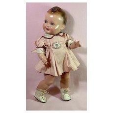"VERY RARE 1930s Freundlich 20"" Baby Sandy Celebrity Doll"