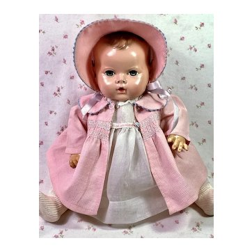 "Vintage 1940s Effanbee 15"" Dy-Dee Jane Mold 2 All Original Baby Doll"