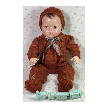 "Vintage 1940s Snowsuit for 20"" Effanbee Dy-Dee Lou"