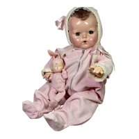 "1940s Pink Corduroy Snowsuit for Effanbee 20"" Dy-Dee Lou Doll"