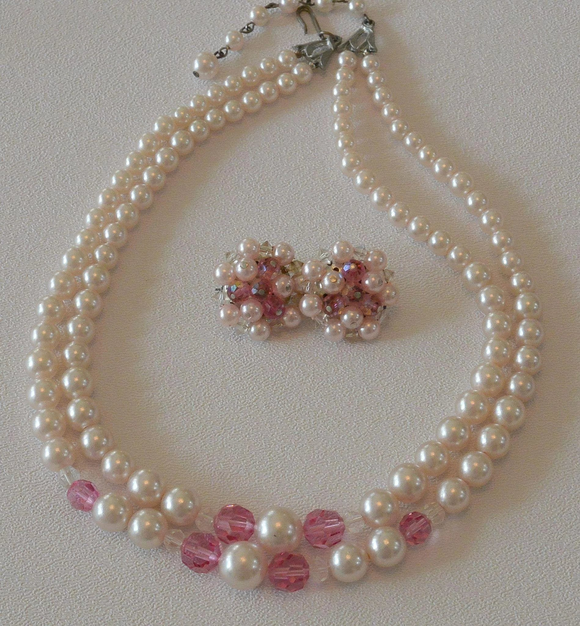 rose us crystal and carved s claire pink pearl necklace
