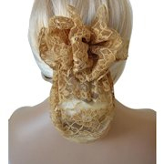 Lace Snood with Bow Barrett - Mocha Color
