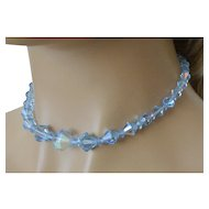 Blue Aurora Borealis Crystals Necklace