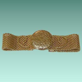 """""""Secret Love Locket"""" Embossed Locket Bracelet - 1975 Sarah Coventry"""
