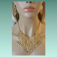 """Mandarin Magic"" 1974 Sarah Coventry Necklace and Dangle Earrings"