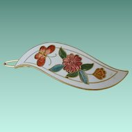 Cloisonne Flowers and Butterfly Hair Barrett