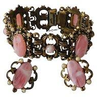 Renaissance Style Bracelet and Screw Back Earrings Set