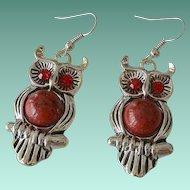 Adorable Owl Figure Ear Wire Earrings