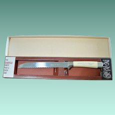 """Regent Sheffield England """"The Miracle Worker"""" Serrated Carving Knife"""