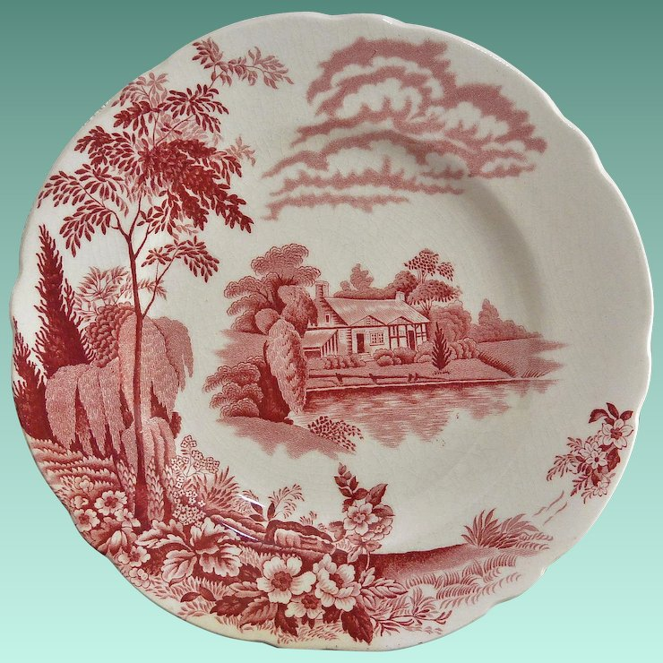 Thomas Hughes \u0026 Son Red \u201cEden Pattern\u201d Salad Plate : thomas pottery dinnerware - pezcame.com