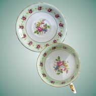Victoria C & E Pattern No 272 Bone China Tea Cup and Saucer
