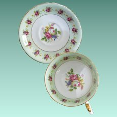 Rare Victoria C & E Pattern No 272 Bone China Tea Cup and Saucer