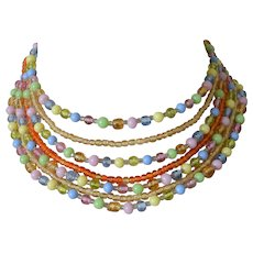 Seven Strand Multiple Colors Japan Beads Necklace