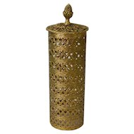 Gold Tone Metal Filigree Hairspray Can Cover