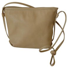 Ronay Taupe Color Genuine Leather Shoulder Purse